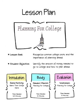 Planning For College Lesson