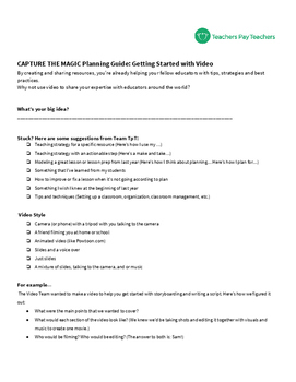 Planning Guide: Getting Started with Video