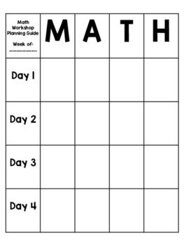 Planning Guide for Math Workshops