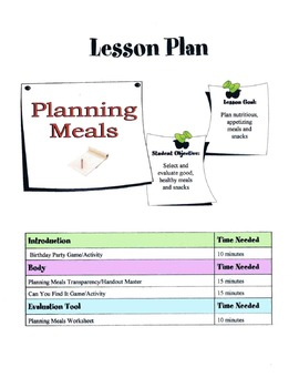 Planning Meals Lesson