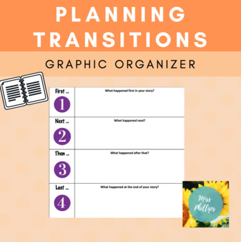 Writing Transitions Graphic Organizer