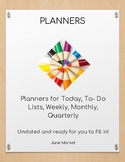 Planning Pages- Today, To do lists, Weekly, Monthly, Quarterly