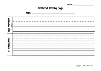 Planning Pages for Narrative, Nonfiction, Persuasive, and How-To Writing