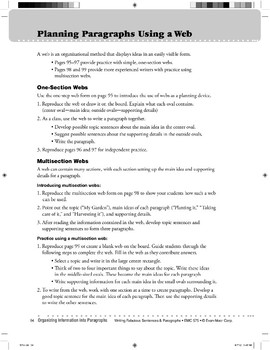 Planning Paragraphs Using a Multisection Web