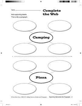 Planning Paragraphs Using a One-Section Web