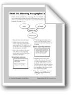 Planning Paragraphs Using a Web (Teacher Information)