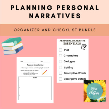 Planning Personal Narratives Bundle