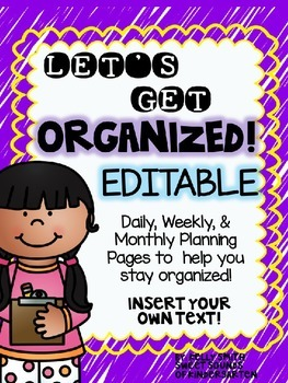 Planning Resources & Checklists- EDITABLE!!