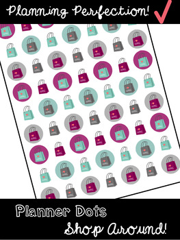 Planning Stickers: Shopping Around!