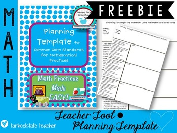 Common Core Standards for Mathematical Practice Planning Template