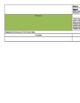 Planning Template for Units or Terms or Semesters