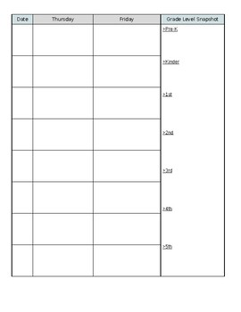 Planning Template (for multiple grades) Specialist