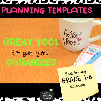 Planning Templates ALL GRADES AND SUBJECT AREAS!