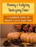 Planning Thanksgiving Dinner Computer Activity Google-Excel