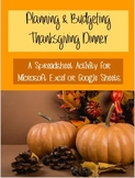 Thanksgiving Computer Activity-Planning Thanksgiving Dinne