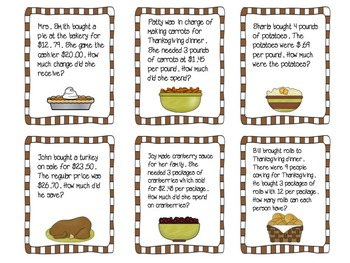THANKSGIVING MATH ACTIVITIES WITH NUTRITIONAL LABELS AND SPREADSHEETS