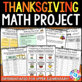Planning Thanksgiving Math Project: {DIFFERENTIATED} Real World Math Project
