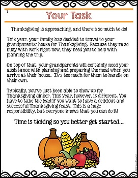 Planning Thanksgiving Math Project: {DIFFERENTIATED} Real World Math Problems