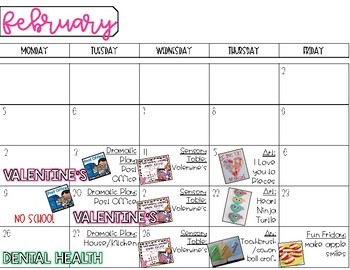 Planning Themes: Monthly Glance