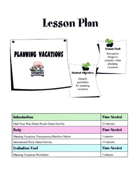Planning Vacations Lesson