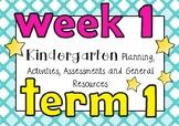 Planning Week 1 Term 1 Kindergarten