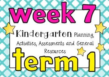 Planning Week 7 Term 1 Kindergarten