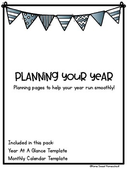 Planning Your Year Blank Calendars