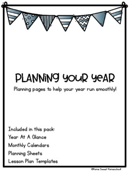 Planning Your Year Bundle