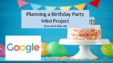 Planning a Birthday Party: 6th Grade Math Mini Project Surface Area and Volume
