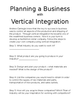 Planning a Business with Vertical Integration
