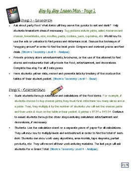 Planning a Classroom Party
