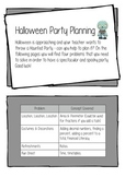 Maths - Planning a Halloween Party Inquiry Project