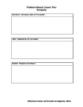 Planning a Problem Solving Lesson