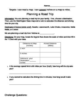 Planning a Road Trip: A Conversion Performance Task