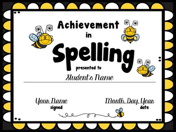 Planning a Spelling Bee