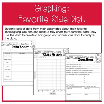 Planning a Thanksgiving Meal: Adding Money, Graphing, & Opinion Writing