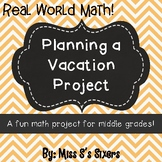 Vacation Math Project-  Distance Learning- Text Fillable!