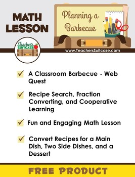 Planning a Virtual Classroom Barbecue- Fraction Converting