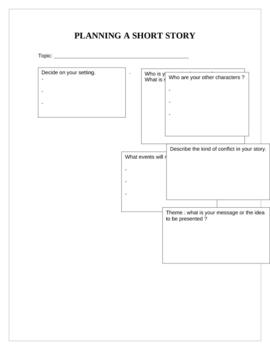 Planning a short story - organizer