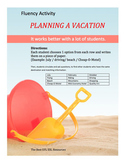 Planning a vacation - Speaking Activities - Fluency Activities