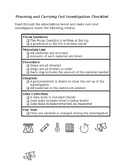 Planning and Carrying Out Investigations Checklist