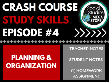 Planning and Organization: Crash Course Study Skills  Ep 4