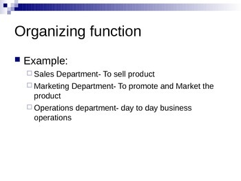 Planning and Organizing Functions of Management PowerPoint