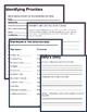 Time Management Activities & Worksheets