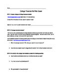 Planning for College: Financial Aid WebQuest