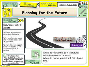 Planning for the future + Careers