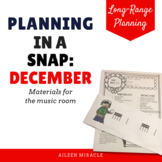 Music Planning in a Snap {December}