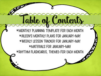 Music Planning in a Snap {January-May Bundled Set}