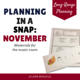 Music Planning in a Snap {November}
