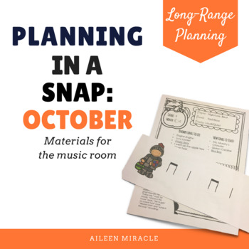 Music Planning in a Snap {October}